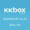 KKBOX单曲月榜201404