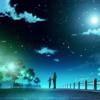 青春动漫的斑斓彩色天空,一些音乐一些感觉