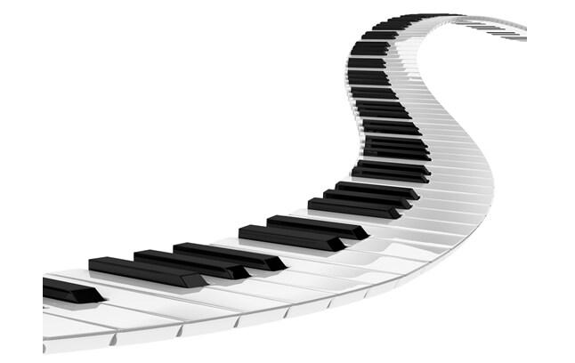 钢琴键盘音调示意图